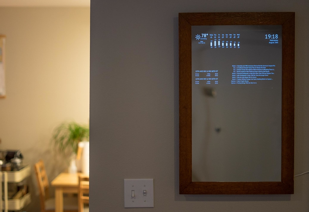 photo of mirror mounted bright